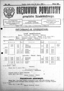 Orędownik Powiatowy powiatu Szubińskiego 1930.07.16 R.11 nr 57