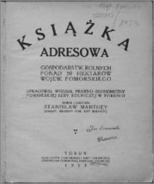Książka adresowa gospodarstw rolnych ponad 50 hektarów wojew. pomorskiego