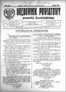 Orędownik Powiatowy powiatu Szubińskiego 1930.09.13 R.11 nr 74