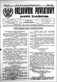 Orędownik Powiatowy powiatu Szubińskiego 1930.10.29 R.11 nr 87