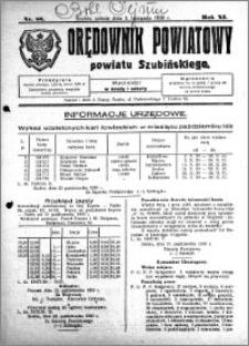 Orędownik Powiatowy powiatu Szubińskiego 1930.11.01 R.11 nr 88