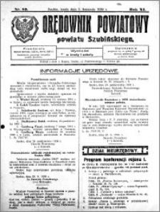 Orędownik Powiatowy powiatu Szubińskiego 1930.11.05 R.11 nr 89