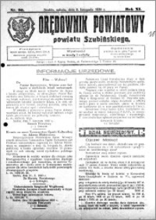 Orędownik Powiatowy powiatu Szubińskiego 1930.11.08 R.11 nr 90