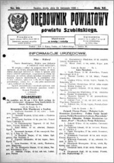 Orędownik Powiatowy powiatu Szubińskiego 1930.11.19 R.11 nr 93