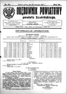 Orędownik Powiatowy powiatu Szubińskiego 1930.11.22 R.11 nr 94