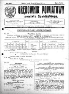 Orędownik Powiatowy powiatu Szubińskiego 1931.07.22 R.12 nr 58