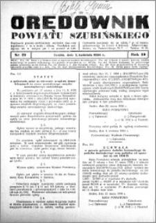 Orędownik Urzędowy powiatu Szubińskiego 1934.04.07 R.15 nr 27