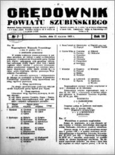 Orędownik powiatu Szubińskiego 1938.01.22 R.19 nr 7