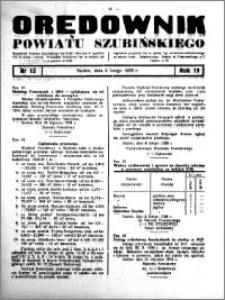 Orędownik powiatu Szubińskiego 1938.02.09 R.19 nr 12