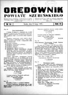 Orędownik powiatu Szubińskiego 1938.02.16 R.19 nr 14