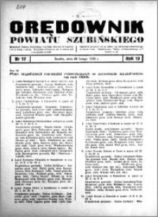 Orędownik powiatu Szubińskiego 1938.02.26 R.19 nr 17