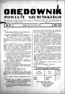 Orędownik powiatu Szubińskiego 1938.03.12 R.19 nr 21