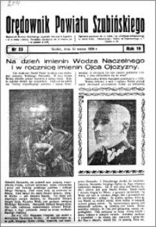 Orędownik powiatu Szubińskiego 1938.03.19 R.19 nr 23