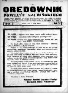 Orędownik powiatu Szubińskiego 1938.05.11 R.19 nr 38