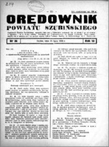 Orędownik Urzędowy powiatu Szubińskiego 1938.07.13 R.19 nr 56