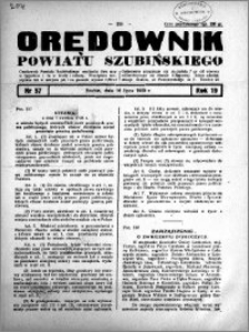 Orędownik powiatu Szubińskiego 1938.07.16 R.19 nr 57