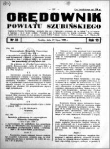 Orędownik powiatu Szubińskiego 1938.07.23 R.19 nr 59