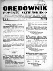 Orędownik powiatu Szubińskiego 1938.07.30 R.19 nr 61