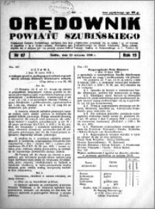 Orędownik powiatu Szubińskiego 1938.08.20 R.19 nr 67