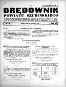 Orędownik powiatu Szubińskiego 1938.09.28 R.19 nr 78