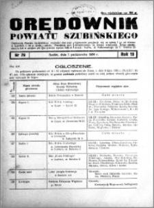 Orędownik powiatu Szubińskiego 1938.10.01 R.19 nr 79