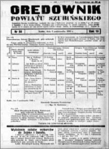 Orędownik Urzędowy powiatu Szubińskiego 1938.10.04 R.19 nr 80