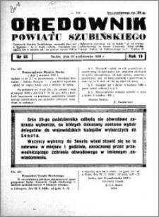 Orędownik powiatu Szubińskiego 1938.10.22 R.19 nr 85
