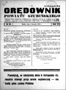Orędownik Urzędowy powiatu Szubińskiego 1938.11.05 R.19 nr 89