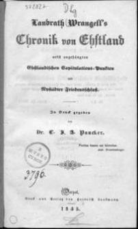 Chronik von Ehstland
