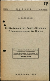 Efficiency of Anti - Stokes Fluorescence in Dyes