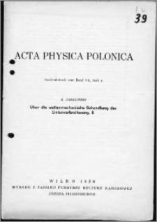 O zastosowaniu mechaniki falowej do teorii rozszerzenia linii widmowych. II
