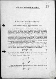 A Note on the Franck-Condon Principle