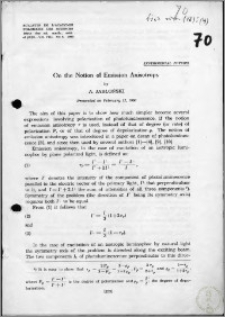 On the Notion of Emission Anisotropy