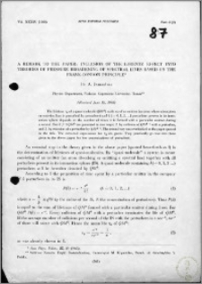 A Remark to the Paper: Inclusion of the Lorentz Effect into Theories of Pressure Broadening of Spectral Lines based on the Franck-Condon Principle