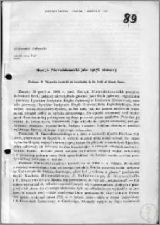 Henryk Niewodniczanski jako optyk atomowy