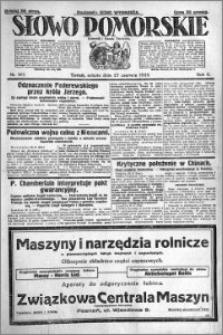 Słowo Pomorskie 1925.06.27 R.5 nr 147