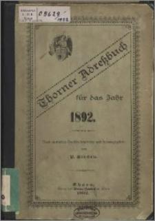 Thorner Adress-Buch für das Jahr 1892