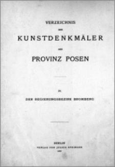 Die Kunstdenkmäler des Regierungsbezirks Bromberg