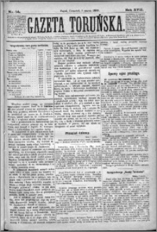 Gazeta Toruńska 1883, R. 17 nr 54