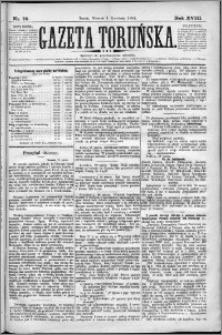 Gazeta Toruńska 1884, R. 18 nr 76