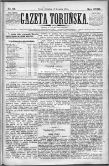 Gazeta Toruńska 1884, R. 18 nr 87