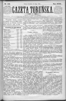 Gazeta Toruńska 1884, R. 18 nr 123