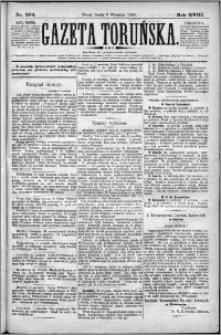 Gazeta Toruńska 1884, R. 18 nr 204