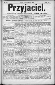 Przyjaciel : pismo dla ludu 1884 nr 12