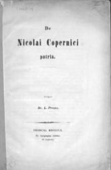 De Nicolai Copernici patria