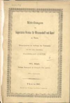Mitteilungen des Coppernicus-Vereins für Wissenschaft und Kunst zu Thorn. H. 6.