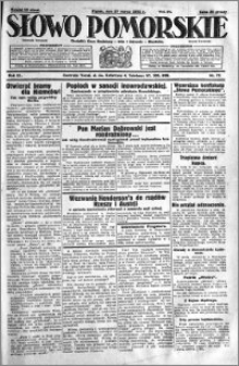 Słowo Pomorskie 1931.03.27 R.11 nr 71
