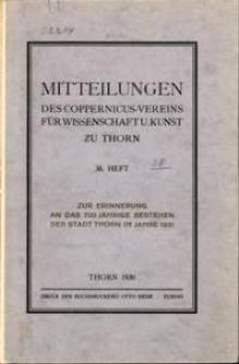 Mitteilungen des Coppernicus-Vereins für Wissenschaft und Kunst zu Thorn. H. 38.