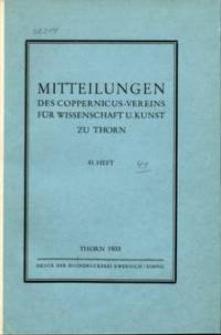 Mitteilungen des Coppernicus-Vereins für Wissenschaft und Kunst zu Thorn. H. 41.