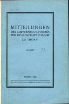 Mitteilungen des Coppernicus-Vereins für Wissenschaft und Kunst zu Thorn. H. 42.